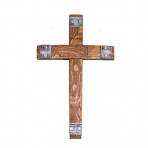 Cross with metal accent