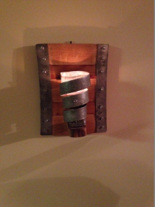 Single candle wall sconce