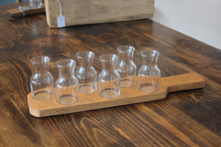 Barrel head Wine Carafe flight