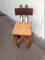 Stave Stool with Back